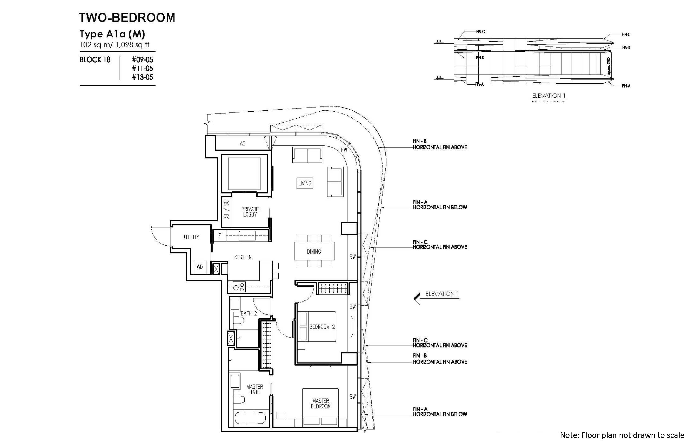 new futura 2 bedroom unit type A1a(M)