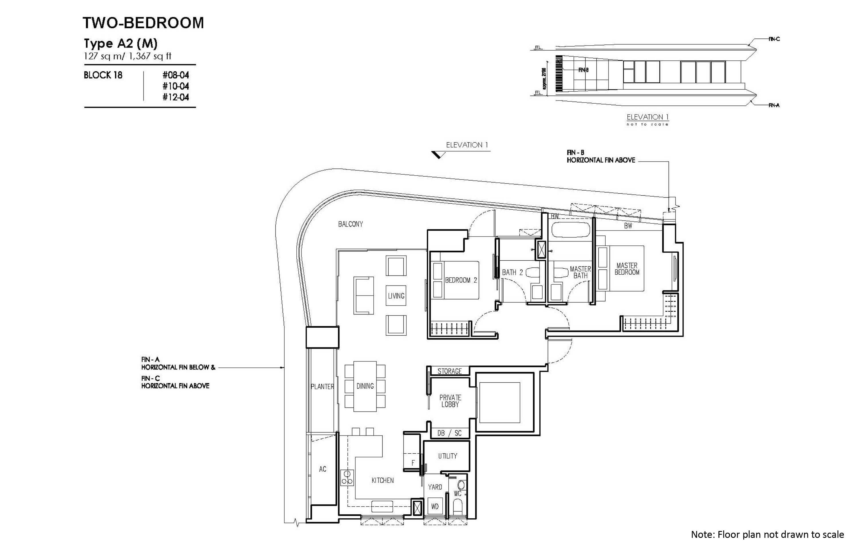 new futura 2 bedroom unit type A2(M)