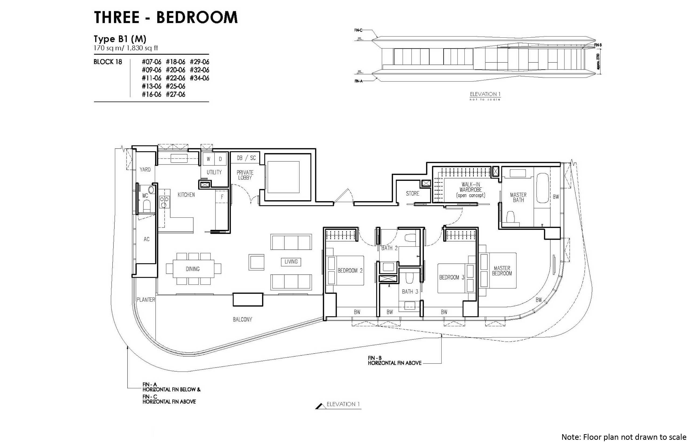 new futura 3 bedroom unit type B1 (M)