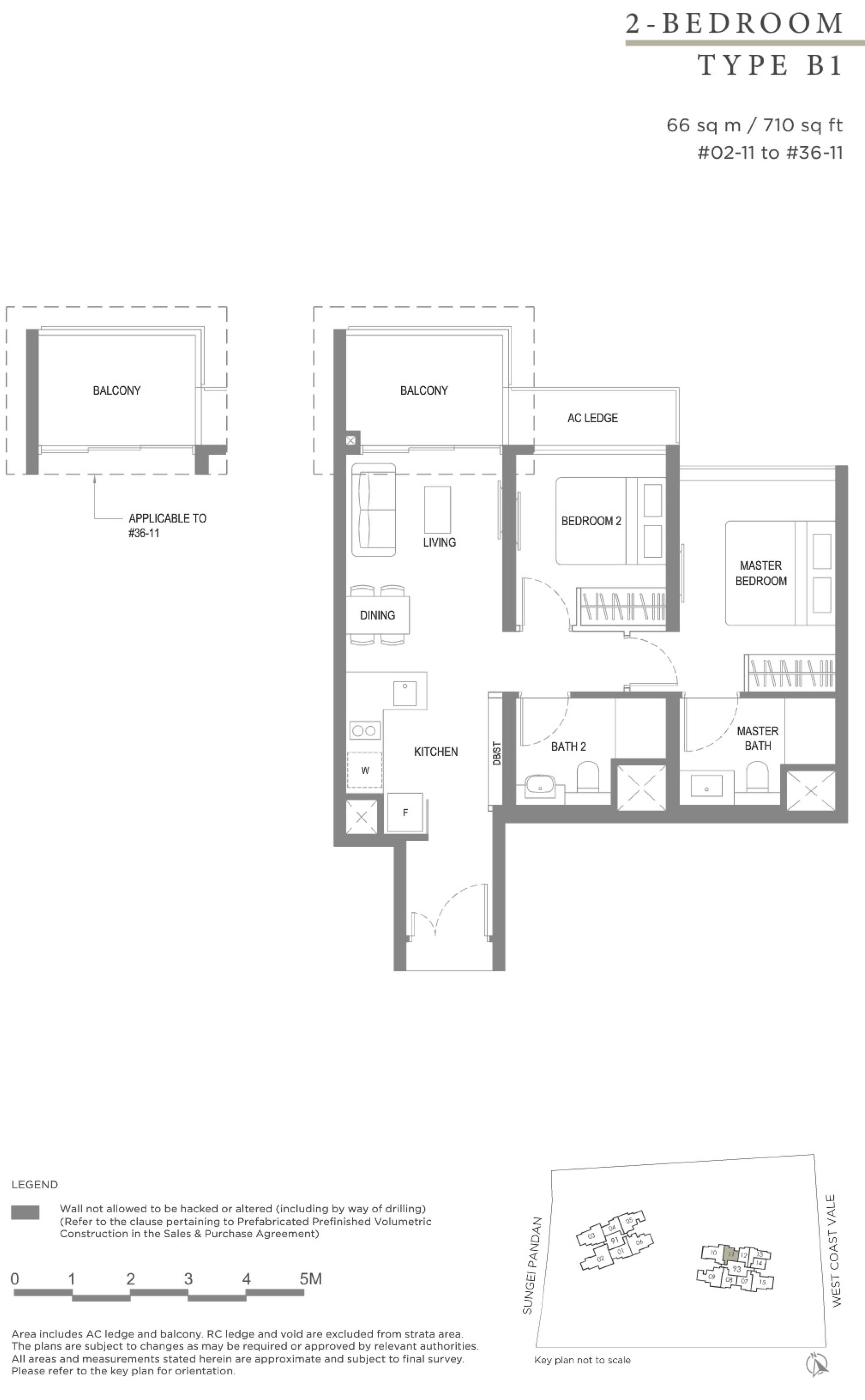 Twin VEW 2 bedroom B1 floor plan