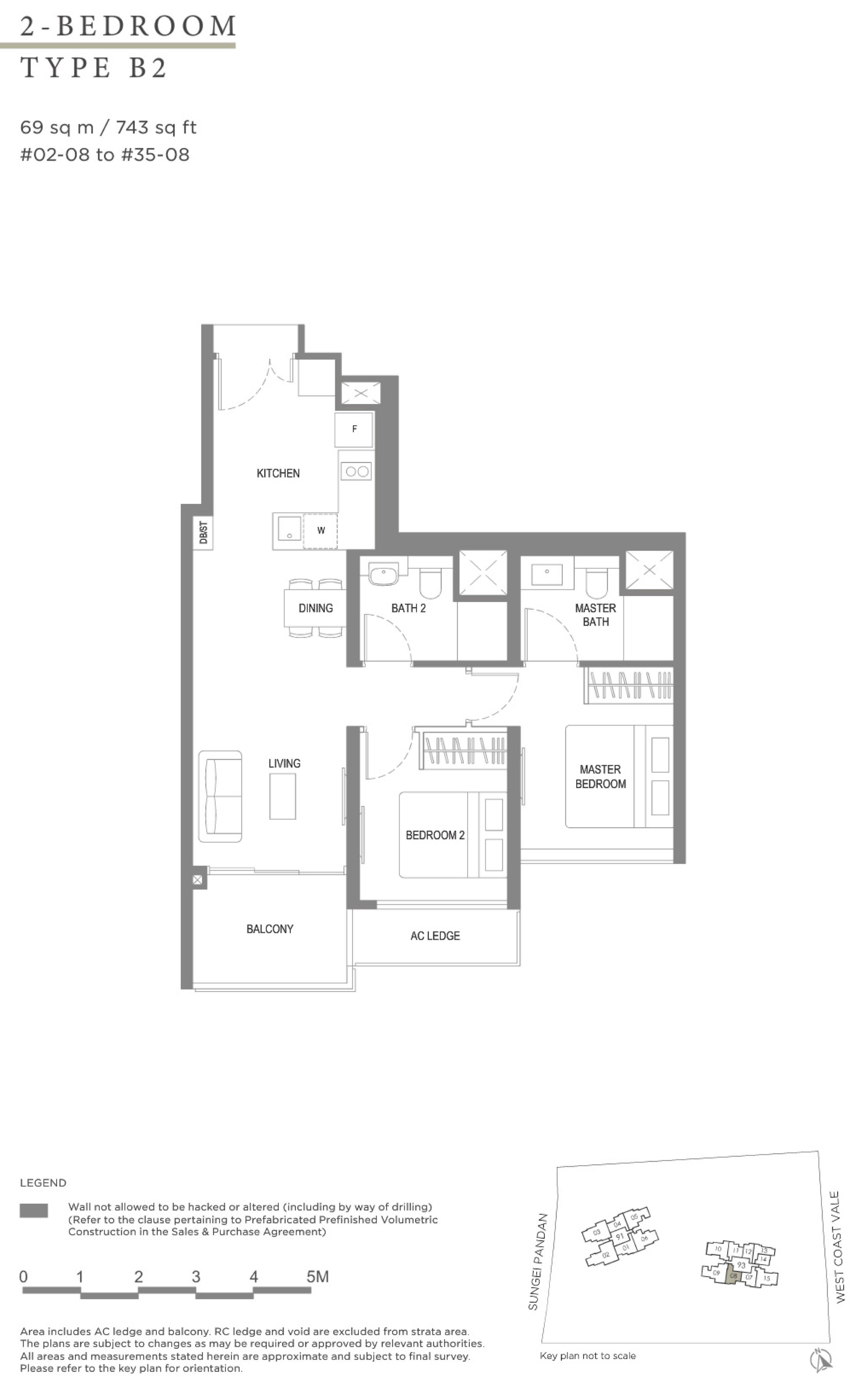 Twin VEW 2 bedroom B2 floor plan