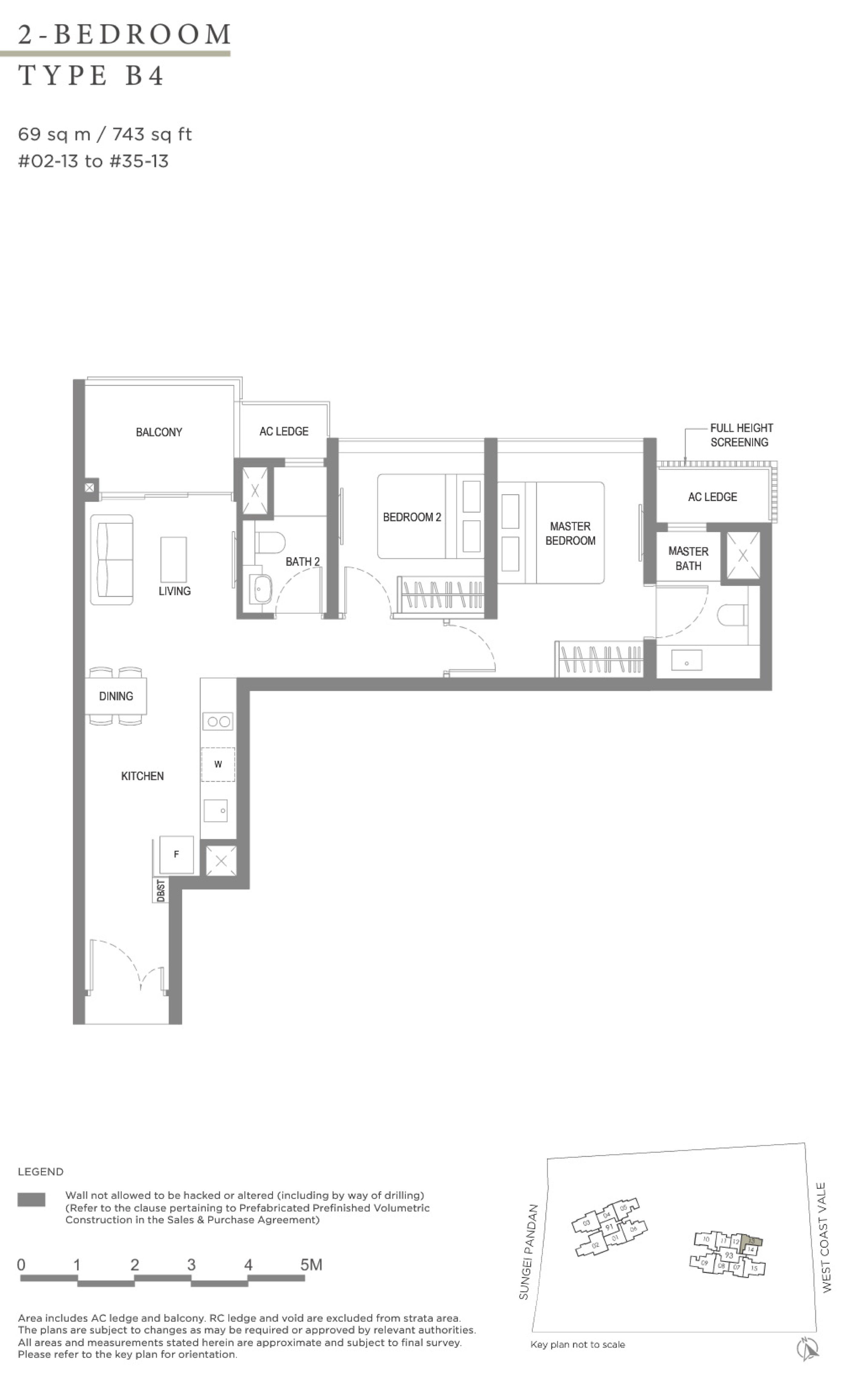 Twin VEW 2 bedroom B4 floor plan