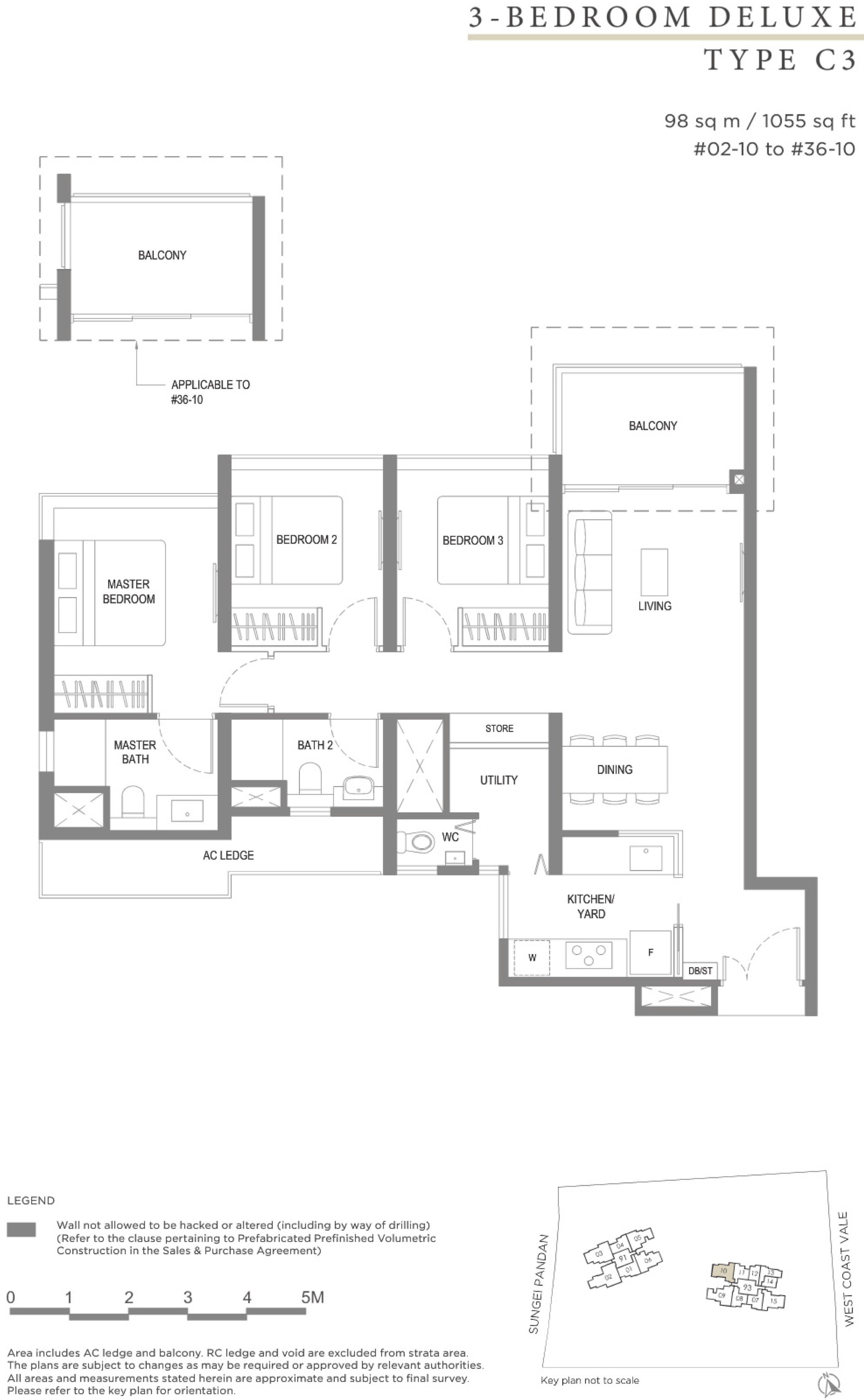 Twin VEW 3 bedroom deluxe C3 floor plan