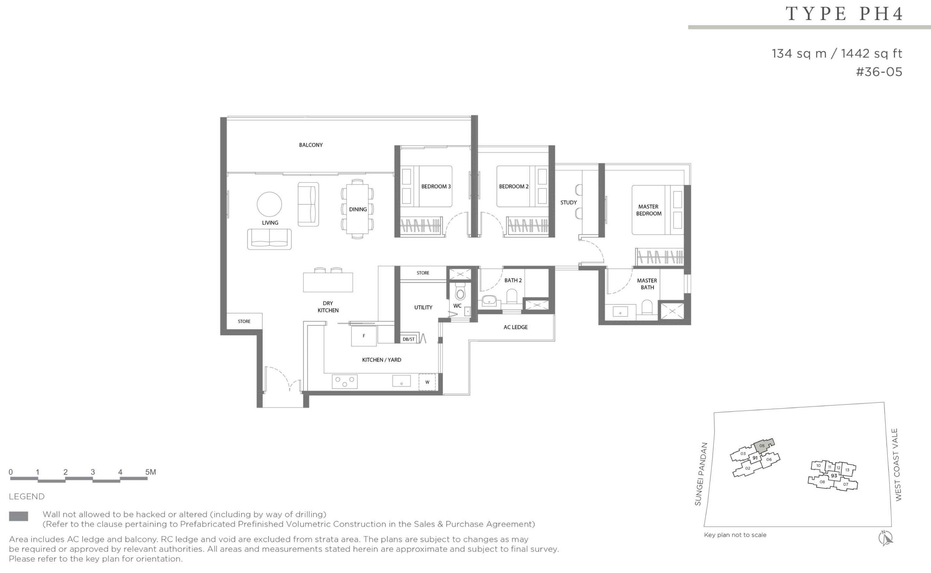 Twin VEW 3 bedroom penthouse PH4 floor plan