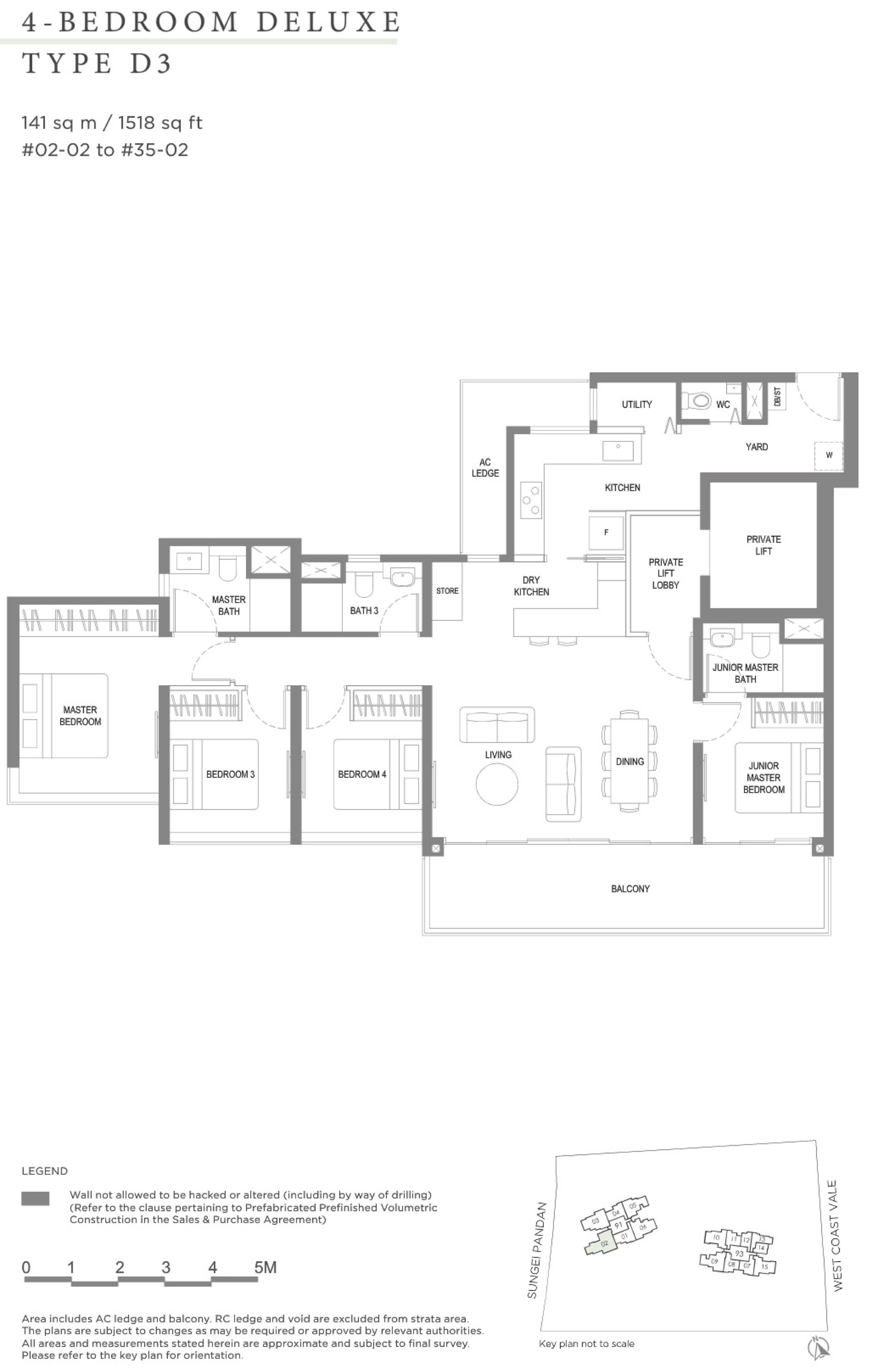 Twin VEW 4 bedroom deluxe D3 floor plan
