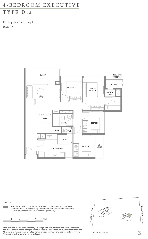 Twin VEW 4 bedroom executive D1a top floor plan
