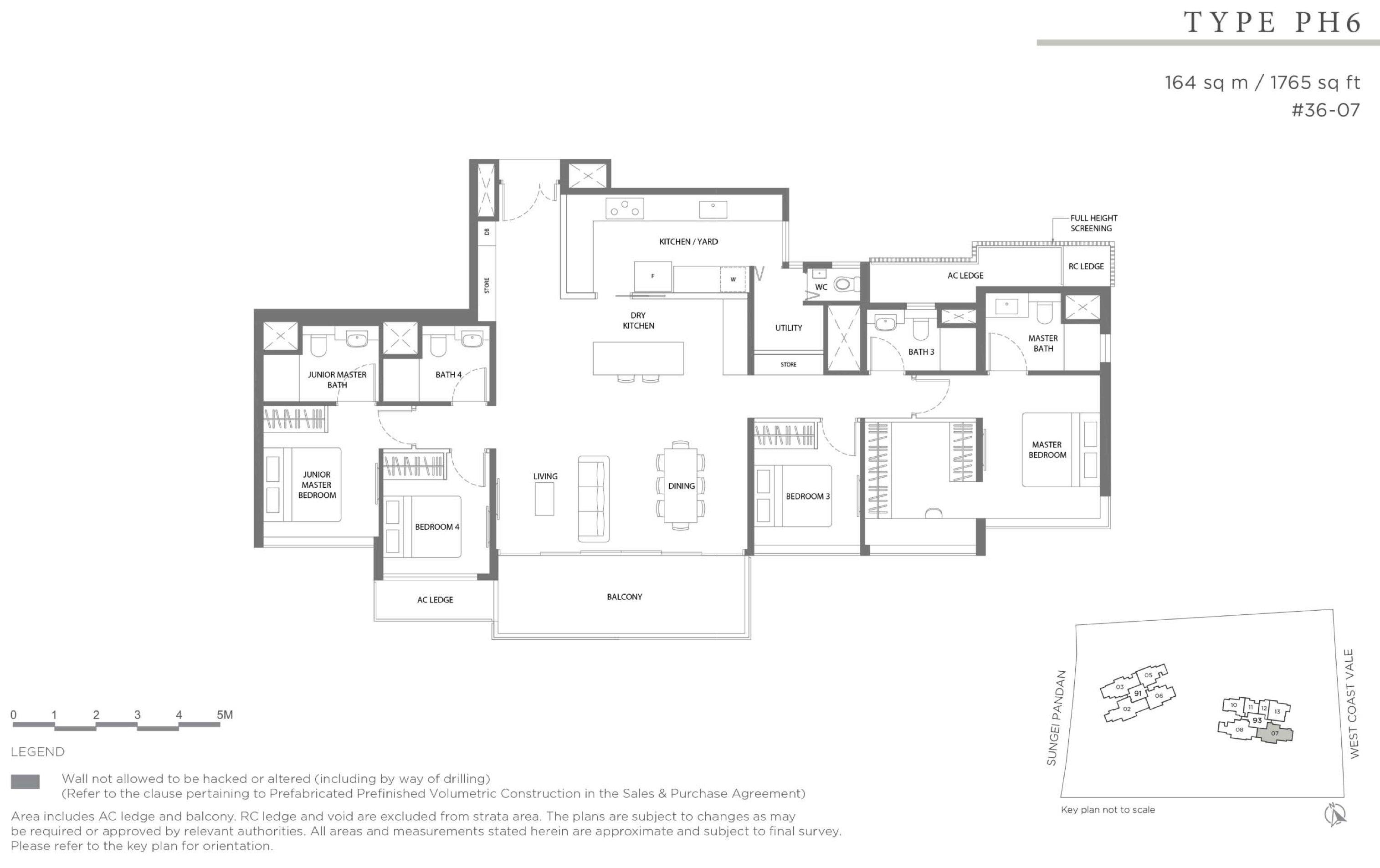 Twin VEW 4 bedroom penthouse PH6 floor plan