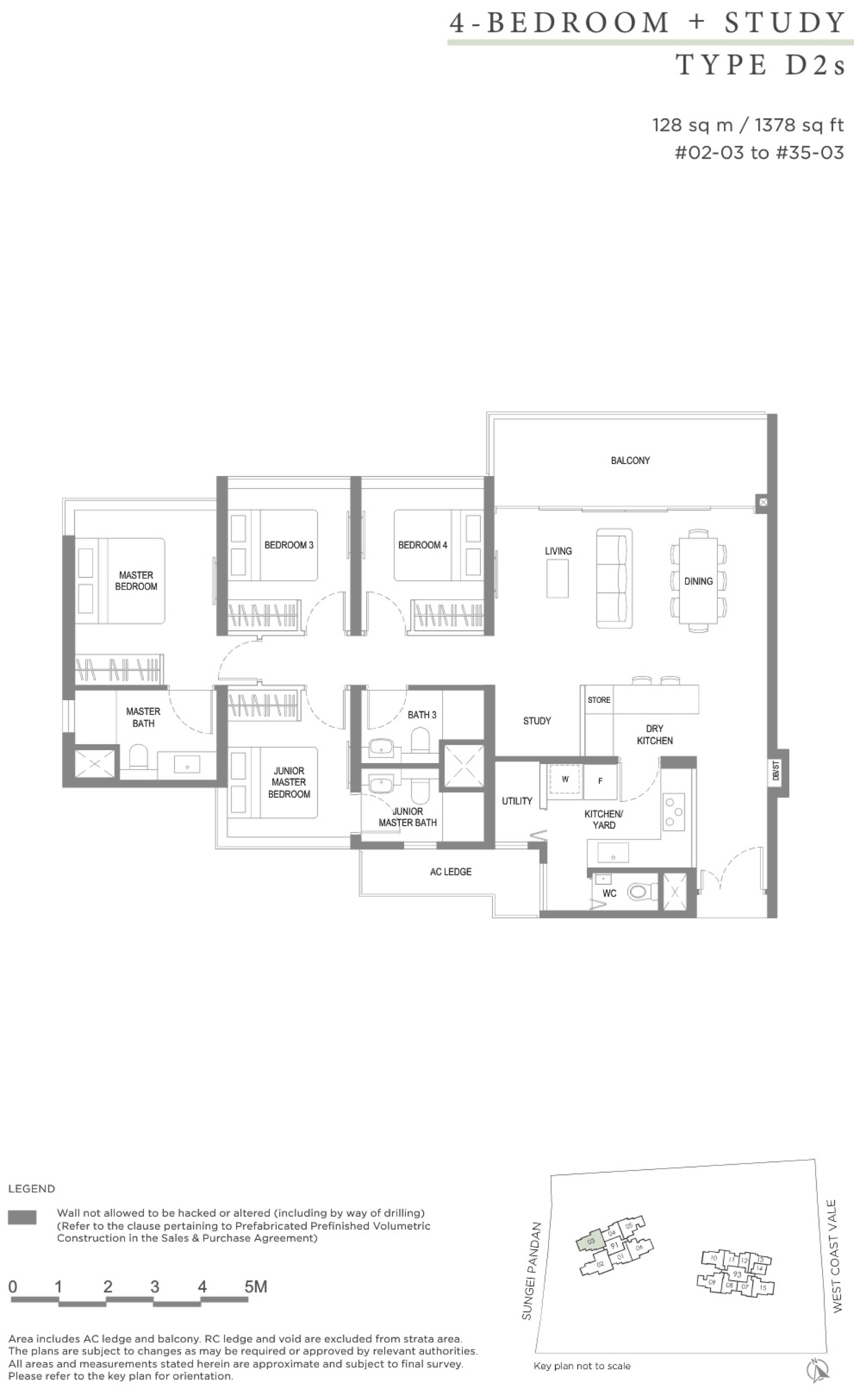 Twin VEW 4 bedroom study D2s floor plan