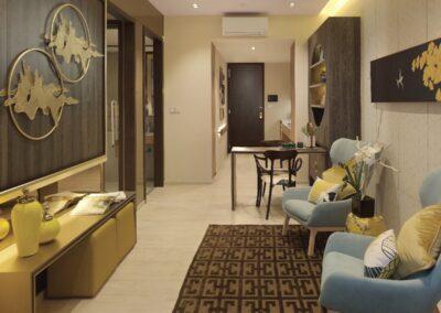 Jadescape 顺福轩 condo interior design 1-bedder living