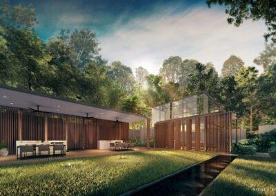Jadescape 顺福轩 lawn BBQ pavilion